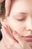 skjuten behandling för makeup 11 Royaltyfri Fotografi