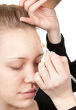 skjuten behandling för makeup 12 Fotografering för Bildbyråer
