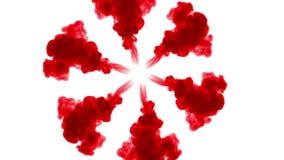 Skjuten fast utgift Röd färg häller in vatten och flyttning i ultrarapid Bruk för bläckig bakgrund eller bakgrund med rök eller f vektor illustrationer