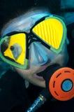 skjuten head scuba för dykare Royaltyfri Bild