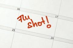skjuten influensa Arkivbild
