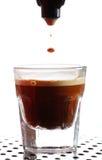 skjuten kaffeespresso Arkivfoton