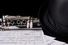 skjuten key low för klarinett Royaltyfri Fotografi