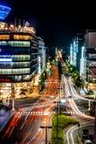 Skjuten Kyoto stadsnatt Fotografering för Bildbyråer