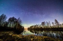 skjuten nattflod Arkivfoto
