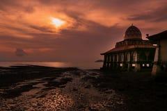 skjuten solnedgångtid för exponering long Royaltyfri Bild