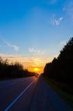 skjuten solnedgångtid för exponering long Royaltyfria Foton