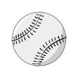 skjuten studio för boll baseball Arkivbild