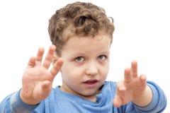 skjuten studiowhite för bakgrund pojke Royaltyfria Bilder
