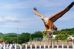 Skjutit av Langkawi ` s Eagle Square från havet Royaltyfri Foto