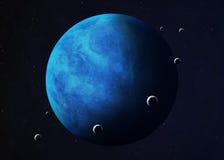Skjutit av Neptun som tas från öppet utrymme collage Arkivbild