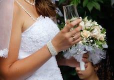 skjutit bröllop Arkivfoto