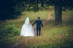 skjutit bröllop för brud brudgum Royaltyfri Bild