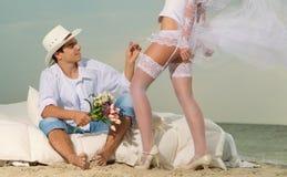 Skjutit bröllop Arkivbild