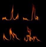 skjutit horzontal för brand för bakgrund svart Royaltyfria Foton