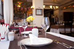 Skjutit i en restaurang Royaltyfri Fotografi