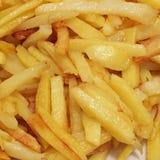 Skjutit i en studio Fried Potatoes Close upp royaltyfri bild