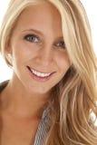 Skjutit leende för kvinnaaffär huvud Arkivfoton