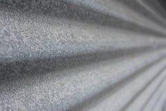 Galvaniserat korrugerat stryka perspecive Fotografering för Bildbyråer