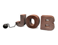 Sklave des Jobs 3D Stockfotografie