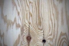 Sklejkowa tekstura z gnarl i naturalny drewno wzór Obraz Royalty Free