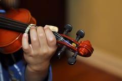 sklejony dzieciaka skrzypce Obrazy Royalty Free