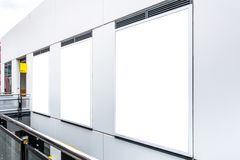 Sklep gabloty wystawowej okno egzamin próbny w górę szablonu Obraz Stock