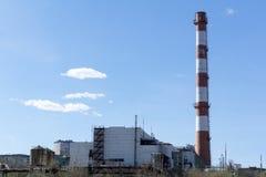 Sklep i komin termiczna elektrownia fotografia royalty free