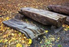 Sklep i stół robić drewno Zdjęcia Royalty Free