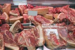 Sklep mięśni produkty Mięsnych produktów sklep Szeroki wybór mięśni produkty Zdjęcia Stock