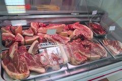 Sklep mięśni produkty Mięsnych produktów sklep Szeroki wybór mięśni produkty Fotografia Royalty Free