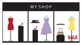 sklep odzieżowy royalty ilustracja