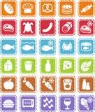sklep spożywczy ikony Obrazy Stock