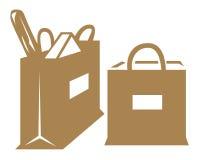 Sklep spożywczy torby royalty ilustracja
