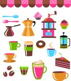 Sklep z kawą ikony loga set set/ Fotografia Stock
