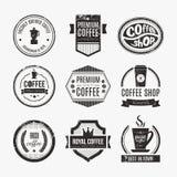Sklep Z Kawą loga kolekcja ilustracji