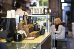 Sklep z kawą odpierający Zdjęcie Royalty Free