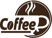 Sklep z kawą loga projekt Zdjęcie Royalty Free