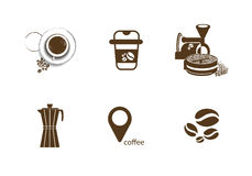 Sklep z kawą mieszkania ikona Obraz Stock