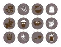 Sklep z kawą mieszkania ikona Zdjęcia Royalty Free