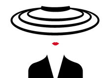 Sklepowa logo mody kobieta Firma loga projekt Obrazy Stock