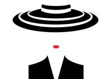 Sklepowa logo mody kobieta Firma loga projekt Zdjęcia Royalty Free