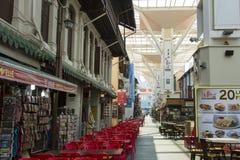 Sklepowy i uliczny jedzenie w Singapur Chinatown Obrazy Stock
