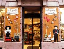 Sklepowy okno w Alsace obraz royalty free