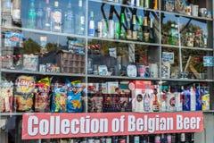 Sklepowy okno w Antwerp, Belgia zdjęcia royalty free
