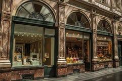 Sklepowy okno w Galeries Royales Hubert przy Bruksela Fotografia Royalty Free