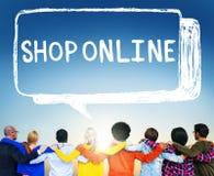 Sklepowy Online Cyfrowej Doręczeniowej technologii Internetowy pojęcie Fotografia Royalty Free