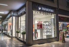 Sklepowy Swarovski z wielkimi witrynami sklepowymi w Zadar Obraz Stock