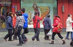 sklepowych okno frontowi ludzie Zdjęcia Stock