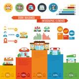Sklepu budynek Infographics Obrazy Royalty Free